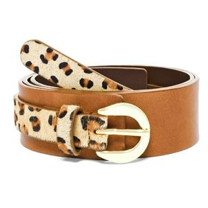 Chico's Leopard Haircalf Belt